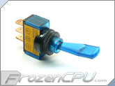 Illuminated Duckbill Toggle Switch 12v. - Blue