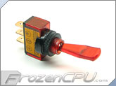 Illuminated Duckbill Toggle Switch 12v. - Red