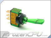 Illuminated Duckbill Toggle Switch 12v. - Green