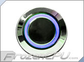 "UV Illuminated Vandal Resistant ""Momentary"" Switch - 16mm - Silver Housing - Ring Illumination"