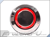 "Red Illuminated Vandal Resistant ""Momentary"" Switch - 16mm - Silver Housing - Ring Illumination"