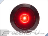 "Red Illuminated Vandal Resistant ""Momentary"" Switch - 16mm - Black Housing - Dot Illumination"