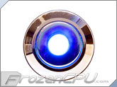 "Blue Illuminated Vandal Resistant ""Momentary"" Switch - 22mm - Silver Housing - Dot Illumination"