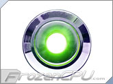 "Green Illuminated Vandal Resistant ""Momentary"" Switch - 22mm - Silver Housing - Dot Illumination"