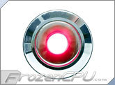 "Red Illuminated Vandal Resistant ""Momentary"" Switch - 16mm -Silver Housing - Dot Illumination"
