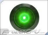 "Green Illuminated Vandal Resistant ""Momentary"" Switch - 16mm - Black Housing - Dot Illumination"