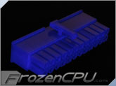 FrozenCPU ConnectRight 24-Pin Female ATX Power Connector - UV Purple