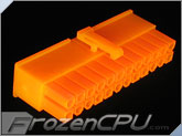 FrozenCPU ConnectRight 24-Pin Female ATX Power Connector - UV Brite Orange