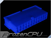 FrozenCPU ConnectRight 24-Pin Male ATX Power Connector - UV Blue