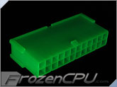 FrozenCPU ConnectRight 24-Pin Male ATX Power Connector - UV Green