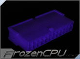 FrozenCPU ConnectRight 24-Pin Male ATX Power Connector - UV Purple