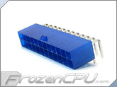 FrozenCPU ConnectRight 24-Pin ATX Power Connector - 90� - UV Blue