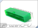 FrozenCPU ConnectRight 24-Pin ATX Power Connector - 90� - UV Green