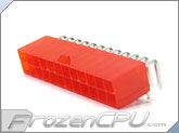 FrozenCPU ConnectRight 24-Pin ATX Power Connector - 90� - UV Red