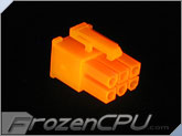 "FrozenCPU ConnectRight 6-pin Female PCI-Express Power Connector ""Version 1"" - UV Brite Orange"
