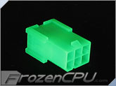 FrozenCPU ConnectRight 6-pin Male PCI-Express Power Connector  - UV Green