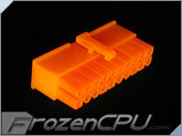 FrozenCPU ConnectRight 20-Pin Female ATX Power Connector - UV Bright Orange