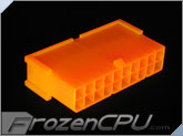 FrozenCPU ConnectRight 20-Pin Male ATX Power Connector - UV Bright Orange