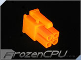 FrozenCPU ConnectRight 4-pin Male 12v Pentium 4 Power Connector - UV Bright Orange