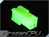 FrozenCPU ConnectRight 4-pin Female 12v Pentium 4 Power Connector - UV Bright Green