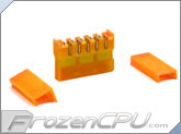 FrozenCPU ConnectRight DIY SATA EZ Crimp Connector - Brite Orange UV - 90� (M-SCAE-16F-BO)
