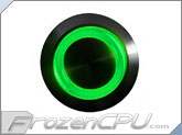 "Green Illuminated Vandal Resistant ""Momentary"" Switch - 22mm - Black Housing - Ring Illumination"
