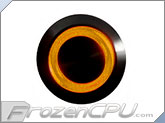 "Orange Illuminated Vandal Resistant ""Momentary"" Switch - 22mm - Black Housing - Ring Illumination"