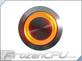 "Orange Illuminated Vandal Resistant ""Momentary"" Switch - 22mm - Silver Housing - Ring Illumination"