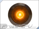 "Orange Illuminated Vandal Resistant ""Momentary"" Switch - 16mm - Black Housing - Dot Illumination"