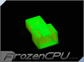 FrozenCPU 3-pin Male Shielded Fan Connector - UV Brite Green