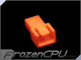FrozenCPU 3-pin Male Shielded Fan Connector - UV Brite Orange