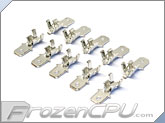 FrozenCPU Quick Disconnect Male Spade Connector - 2.8mm - 10 Pack