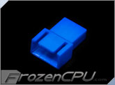 FrozenCPU 4-pin Male PWM Shielded Fan Connector - UV Blue