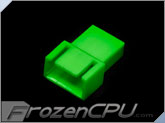 FrozenCPU 4-pin Male PWM Shielded Fan Connector - UV Green