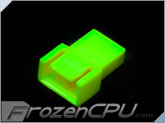 FrozenCPU 4-pin Male PWM Shielded Fan Connector - UV Brite Green