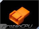 FrozenCPU 4-pin Male PWM Shielded Fan Connector - UV Brite Orange