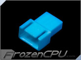 FrozenCPU 4-pin Male PWM Shielded Fan Connector - UV Aqua Blue