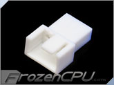 FrozenCPU 3+1-pin Male PWM Shielded Fan Connector - White