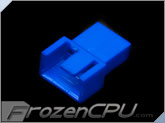 FrozenCPU 3+1-pin Male PWM Shielded Fan Connector - UV Blue