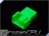 FrozenCPU 3+1-pin Male PWM Shielded Fan Connector - UV Green