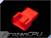FrozenCPU 3+1-pin Male PWM Shielded Fan Connector - UV Red