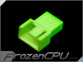 FrozenCPU 3+1-pin Male PWM Shielded Fan Connector - UV Brite Green