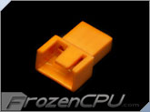 FrozenCPU 3+1-pin Male PWM Shielded Fan Connector - UV Brite Orange
