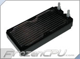 Black Ice Xtreme II Dual 120mm Radiator (Black) w/ Customizable Fittings