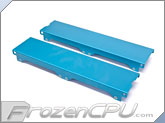 Aquacomputer Airplex Modularity 240 Radiator Replacement Side Panel Set - Anodized Blue (33532)