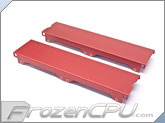 Aquacomputer Airplex Modularity 240 Radiator Replacement Side Panel Set - Anodized Red (33533)