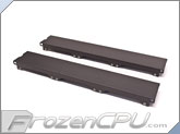 Aquacomputer Airplex Modularity 360 Radiator Replacement Side Panel Set - Anodized Black (33540)