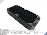 Koolance Dual 120mm Copper High Flow Radiator - 30 FPI - Black (HX-240XC) (No Nozzles)
