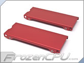 Aquacomputer Airplex Modularity 140 Radiator Replacement Side Panel Set - Anodized Red (33530)