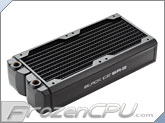 Black Ice SR2 Stealth U-Flow - 240 Radiator - Black Carbon